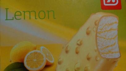 Helado de limón y chocolate blanco Día