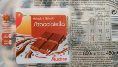 Helado de Stracciatella Auchan