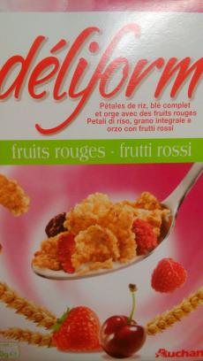 Cereales Déliform con frutos rojos Auchan
