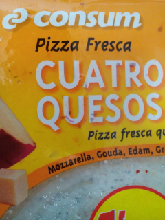 Pizza fresca 4 quesos Consum