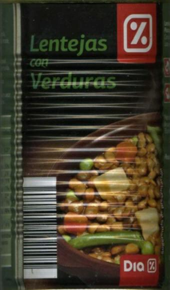 "Lentejas con verduras. Marca \""Dia\"""