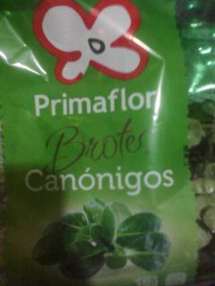 """Brotes de canónigos. Marca """"Primaflor""""."""