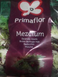 """Ensalada Mezclum. Marca \""""Primaflor\""""."""