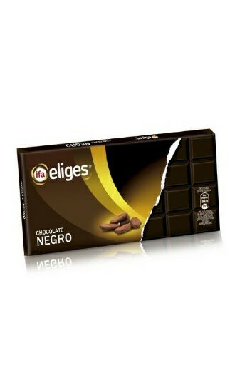 "Chocolate negro. Marca ""Ifa Eliges\"""