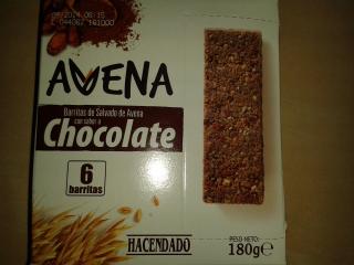 Barritas de salvado de avena con sabor a chocolate