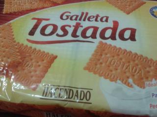 Galleta tostada hacendado