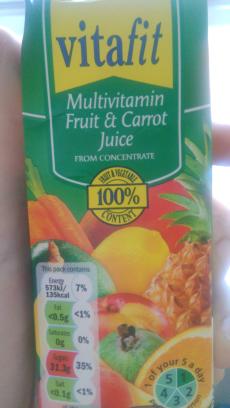 Multivitamin fruit and carrot juice Vitafit Lidl