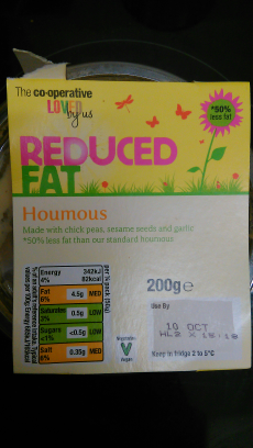 Houmous Cooperative Reduced Fat