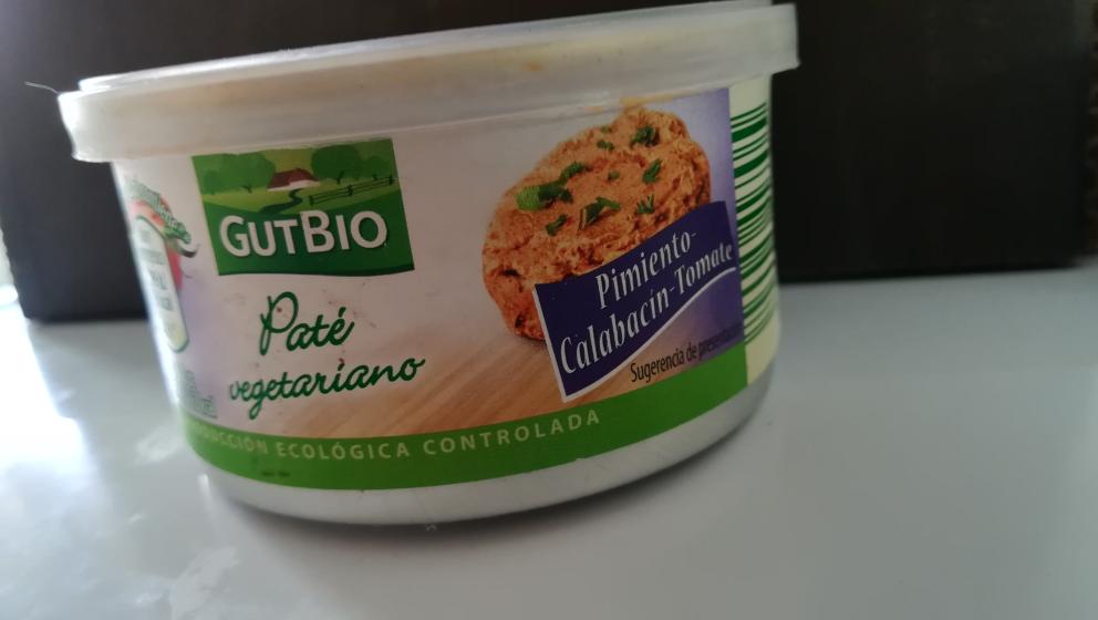 Paté Pimiento, calabacín y tomate GutBio