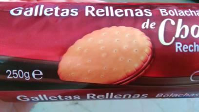 Galletas rellenas de chocolate Covirán
