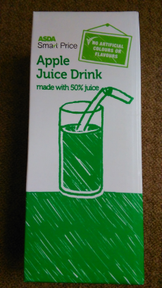 Apple juice (zumo manzana) Asda