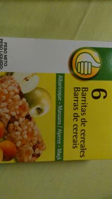 Barrita de cereales de albaricoque y manzana Auchan