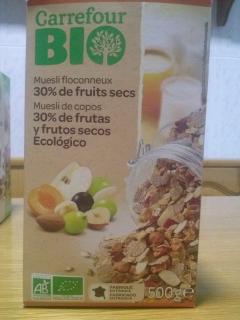 Muesli de copos 30% frutas y frutos secos carrefour