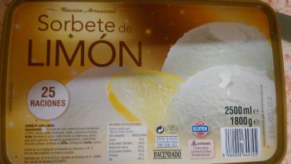 Sorbete de limón Hacendado