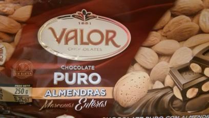 Chocolate puro con almendras marconas enteras Valor