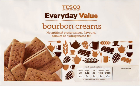 Galletas Everyday Value Bourbon Creams Tesco