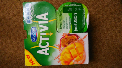 Activia Fruit Fussion Mango &  Passionfruit