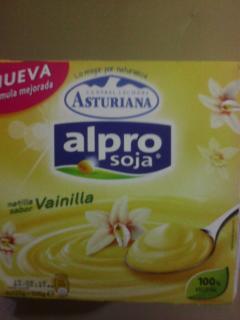"""Natillas sabor vainilla. Marca """"Alpro soja"""""""