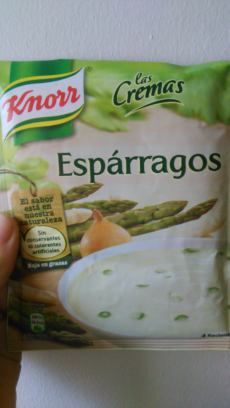 Crema de espárragos Knorr
