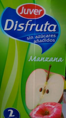 Disfruta Juver Manzana sin azúcar añadido
