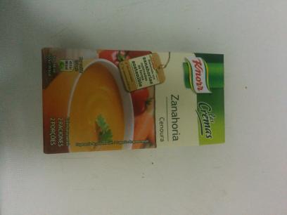 Crema de zanahoria, knorr