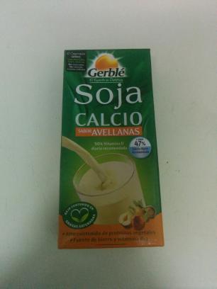 Bebida de soja con calcio, sabor avellanas, Gerblé