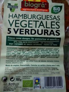 hamburguesa 5 verduras biogra