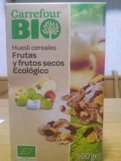 Muesli cereales frutas y frutos secos Carrefour ecologico