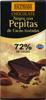 Chocolate negro Hacendado con pepitas de cacao 72% cacao