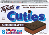 Helado sandwich de chocolate Tofutti Chocolate Cuties