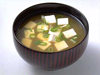 Sopa Miso con trocitos de tofu