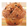 Muffin o magdalena de pasas o canela