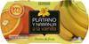 Postre de fruta Plátano y Naranja a la Vainilla Hacendado