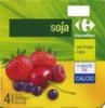 Postre de soja con frutos rojos Carrefour