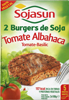 Hamburguesas vegetales Sojasun tomate y albahaca