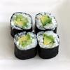 Sushi de aguacate y pepino
