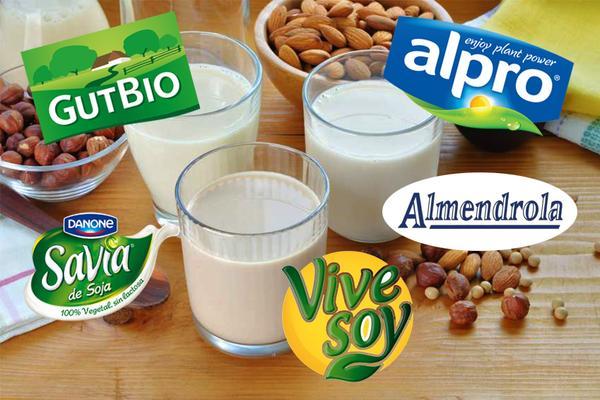 Comparativa de marcas de leches vegetales: soja, almendra, avena y coco