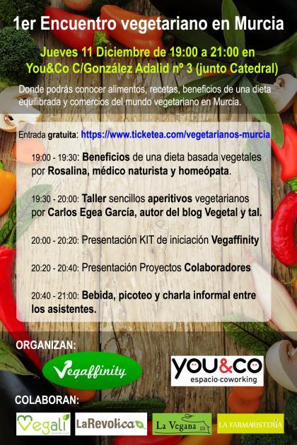 Encuentro Vegetarianos en Murcia 11 diciembre