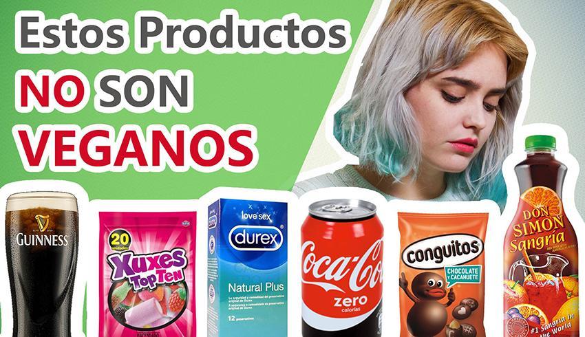 Productos que parecen veganos pero que no lo son