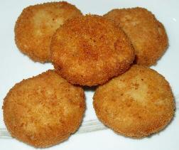 Nuggets de calabaza y setas.