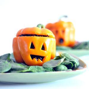 Pimiento relleno de Halloween