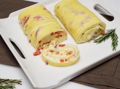 Tortilla francesa de queso. (Ovolactovegetariano)