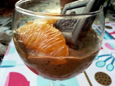 Mousse de chia y chocolate