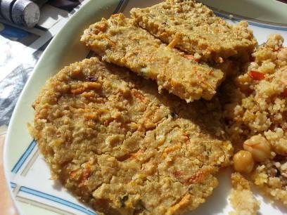 Tortitas de avena y zanahoria