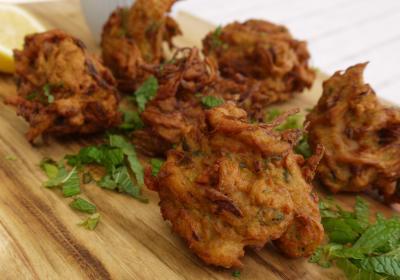 Cebolla frita Bhaji