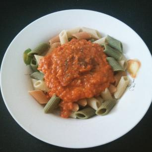 Salsa boloñesa de lentejas rojas