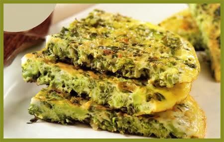 Tortilla vegana de brócoli