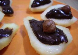Peras al chocolate