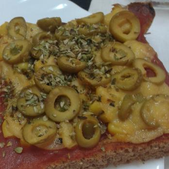 Pan pizza integral rápido
