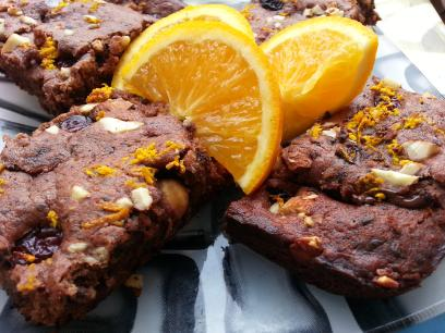 Brownies veganos de chocolate y frutos secos